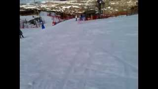 preview picture of video 'Valdelinares - Pista Central (azul) - Descenso en zigzag'