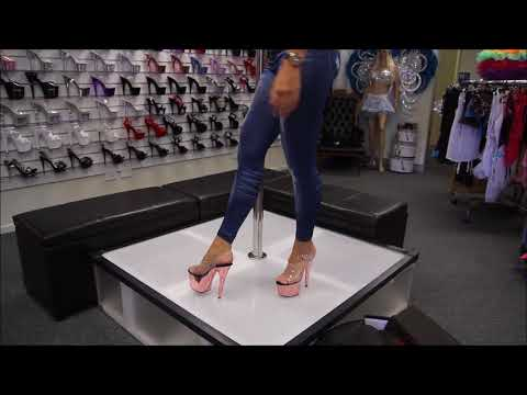 Review Pleaser  Rose Gold Chromed 7 Inch Platform High Heel Shoes