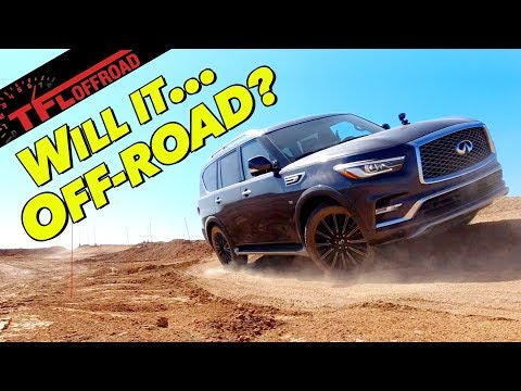 On TWO Wheels! Is the 2020 Infiniti QX80 Better Off-Road Than A Land Cruiser?