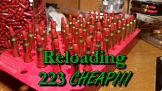How I'm Reloading 223 For $.10 Per Round | CountryBoyPrepper