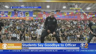 Chino Students Send Off School Resource Officer With Dance Routine