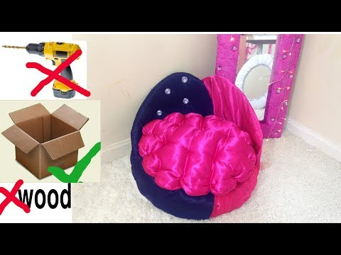 DIY Sofa Bed  For Pet By Using Cardboard||DIY Princess Bed For Pet ||Unbelievably Helpful DIY