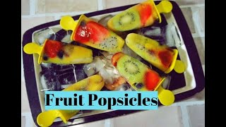 Fresh Fruit Popsicles| Healthy Fruit Popsicles  |No Sugar  Cream Lollies by Priyanka Rattawa
