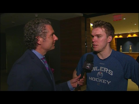 McDavid reflects on being the captain of a playoff bound team