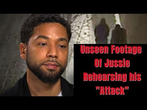 Shocking unseen footage of Jussie smollett rehearsing attack