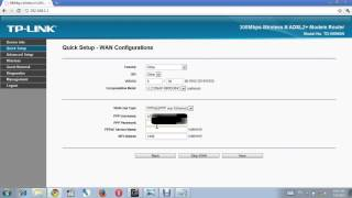 UAE etisalat ADSL  TP-LINK router modem configuration