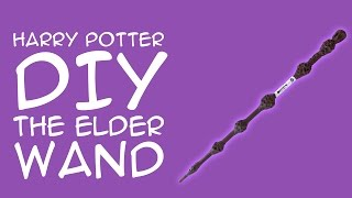 Harry Potter Craft The Elder Wand DIY: (For Harry Potter Fans)  - A GeekyMcFangirl Tutorial