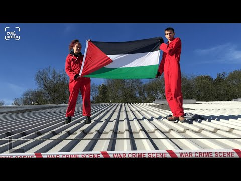 Palestine Action occupy drone manufacturing plant in Leicester