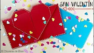Tarjeta Sorpresa Para San Valentín, Sobre Tarjeta Corazón Sorpresa, Ideas Para San Valentín
