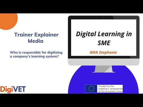 Who is responsible for digitizing a company's learning system?