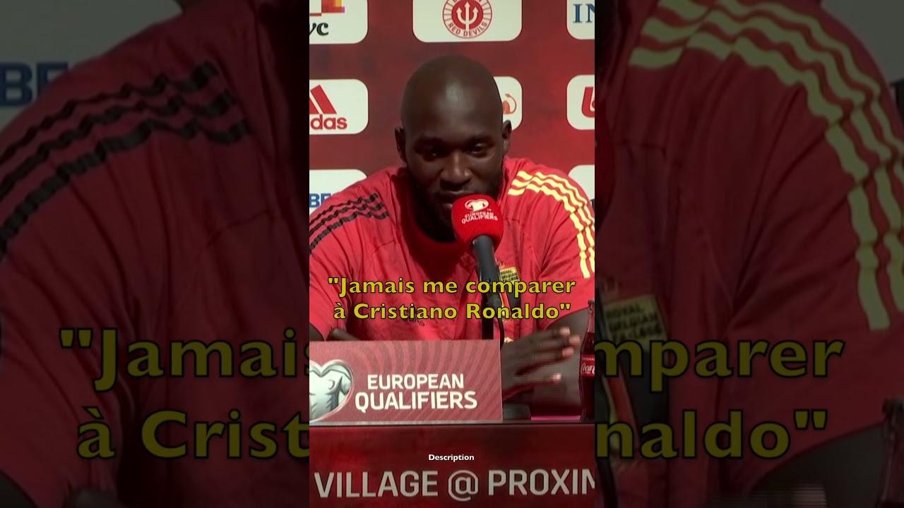 """🎙 Lukaku : """"Jamais me comparer à Cristiano Ronaldo !"""" 🔥"""