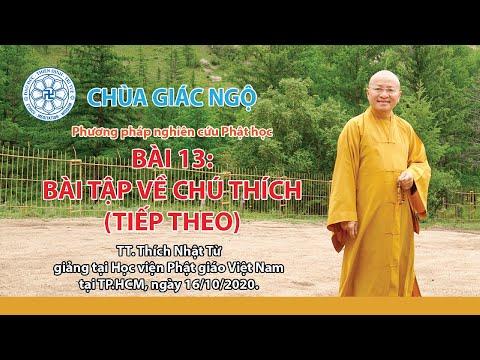 Bài tập về chú thích (tiếp theo) - Phương pháp nghiên cứu Phật học