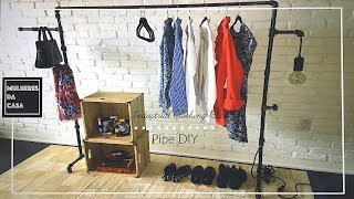 DIY Industrial Pipe Clothing Rack | Easy  Pipe Clothing Rack DIY