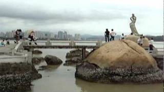 preview picture of video 'Zhuhai Statue of Fisher Girl 珠海漁女'