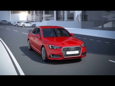 The all-new Audi A4: exit warning