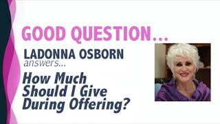 How Much Should I Give During Offering?