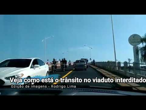 Interdição do viaduto Abreu Sodré, que liga as avenidas Alberto Andaló e Philadelpho Gouveia Neto
