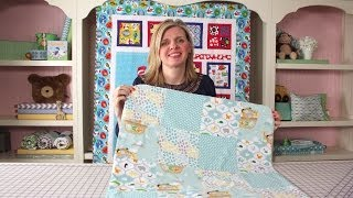 How To Make A Quick & Simple Receiving Blanket DIY Tutorial | Fat Quarter Shop