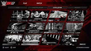 WWE 2K17 Concept/Idea: All Match Types & Menu (PS4/Xbox One)