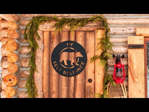Log Cabin Cost - Build A Debt Free Off Grid Tiny House | Home Tour