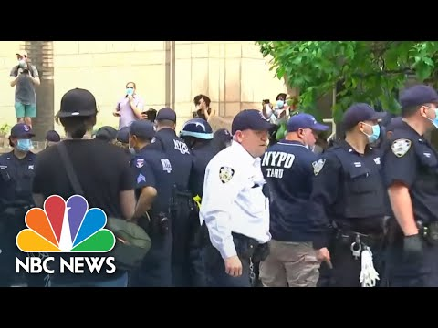 Protests Break Out In New York City After George Floyd's Death   NBC News NOW