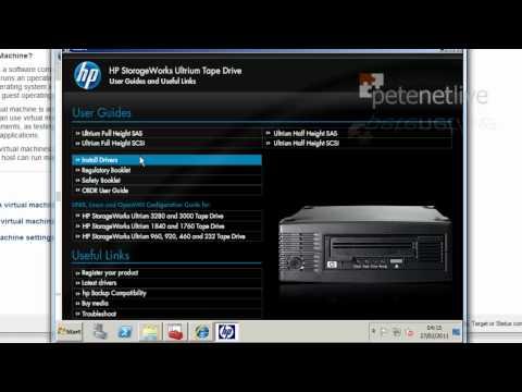 Presenting Tape Drives to vSphere ESX Hosts
