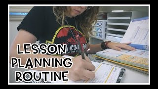 Lesson Planning Routine