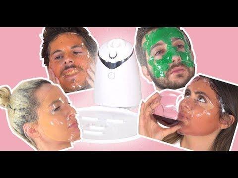 Comme faire le masque pour la personne de la gélatine et le charbon