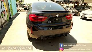 2018 BMW X6M - сэкономили около 50000$ , купили на страховом аукционе. Утопленник!!!