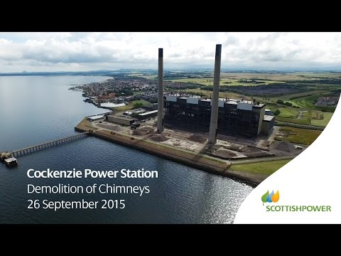 Watch The Spectacular Demolition Of A Power Station's Huge Chimneys