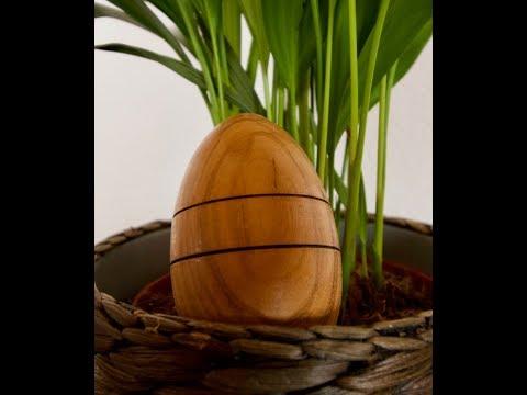 Ostereier aus Holz herstellen