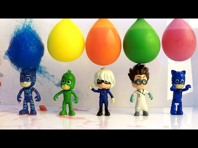 Pj Masks Toys Learn Colors with Pj Masks Toys and Balloons