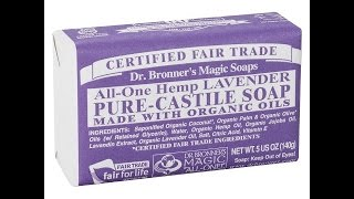 My Acne Cure! Dr. Bronners Lavender Soap