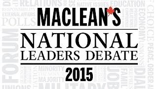 REPLAY: Maclean's National Leaders Debate