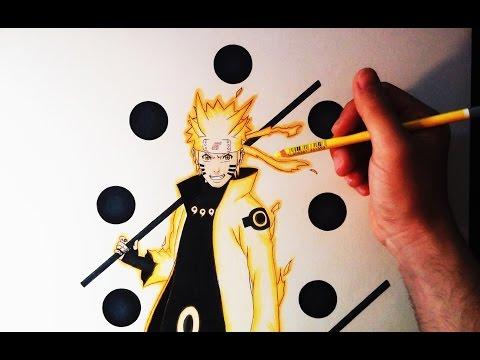 Cómo dibujar a Naruto en Modo Sabio de los 6 caminos | How to Draw Naruto Six Paths | ArteMaster