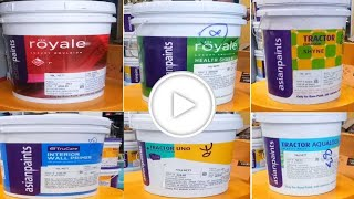 Asian Paints 10 Litres| Latest Interior Buckets| Top 8 Indoor Paint Buckets| Royale Play Buckets|