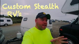Stealth Camper, Nearly Hit, Dump Station Hack, & RV Work