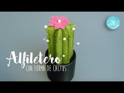 Cómo hacer un alfiletero con forma de cactus.