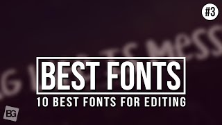 10 Best Fonts For Editing #3