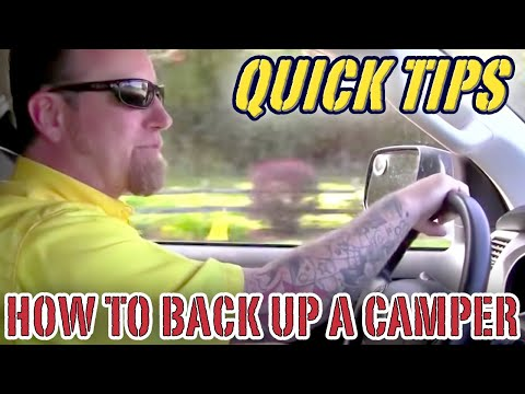 How to Back Up a Camper  | Pete's RV Quick Tips (CC)