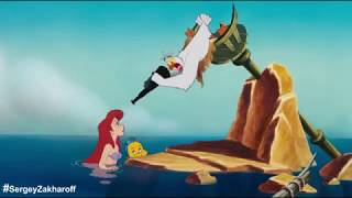 Смешные моменты(приколы) из мультфильма Русалочка. Попробуй не засмеяться=)