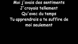 Amel Bent - A trop t'aimer (Lyrics)