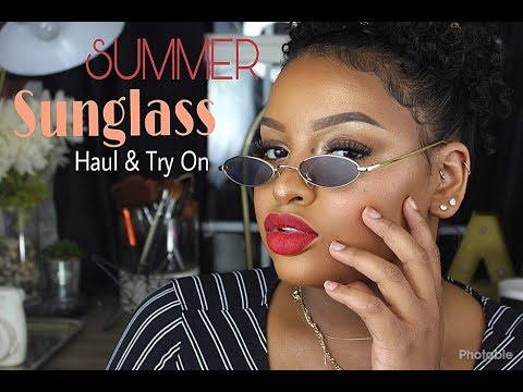S U M M E R | Sunglass Haul & Try On | Amber Vallen 2018