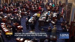"Senator John McCain votes NO on ""Skinny Repeal"" (C-SPAN)"