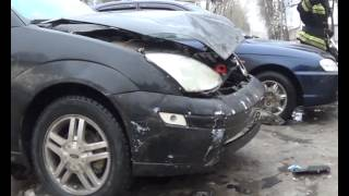 ДТП Дзержинск д/к Свердловец. Пострадали две девушки. 14.02.2014.