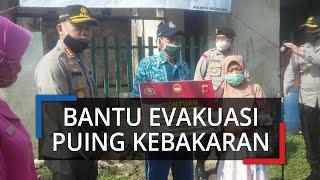 Sambut Hari Bhayangkara, Polresta Bogor Kota Kerahkan Pasukan Bantu Evakuasi Puing