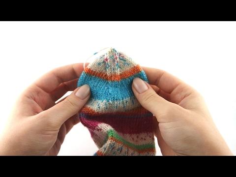 Wie stricke ich Socken? #8 Maschenstich