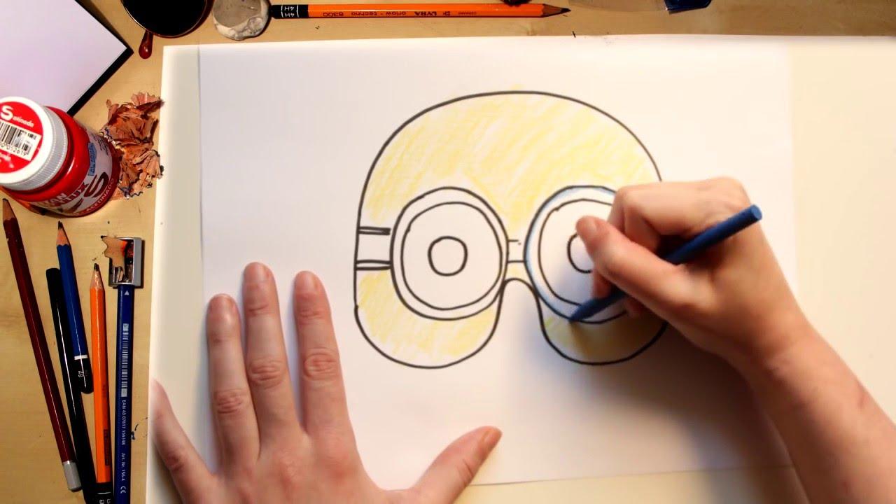 Como desenhar uma Máscara de Minions