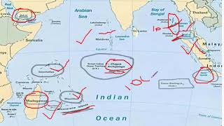 """INDIAN OCEAN REGION map "" for UPSC; SSC"