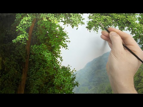 oil painting tutorial  painting large foreground trees
